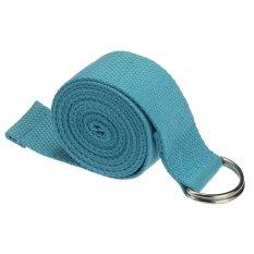 Harga Bigskyie Baru Yoga Peregangan Tali Pengikat D Cincin Kaki Sabuk Pinggang Kebugaran 180 Cm Disesuaikan Biru New