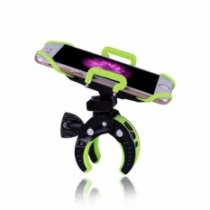 Bike Mount Pemegang Bicycle Handlebar Phone Mount MotorcycleCarriage Bicycle Cell Phone Holder Cradle With Rubber Strap 360 Degree Rotate- INTL