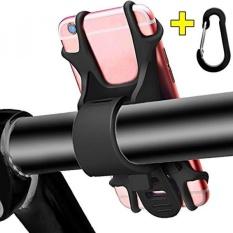 Sepeda Telepon Dudukan, ponsel Penahan untuk Sepeda Motor Universal Silikon Sepeda Stang Dudukan untuk iPhone 8 7 6 6 S Plus, samsung Galaksi S8 S7 S6, Perhubungan, HTC, LG Oleh Apzek (Hitam)-Internasional