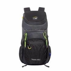 Model Hitam 40 Liter Lipat Backpack Hiking Daypacks Outdoor Drawstring Travel Bags Laptop Computer Back Pack Kamera Ransel Portable Tahan Terhadap Udara Pria Olahraga Light Ultra Kulit Tahan Aus Bersepeda Trekking Terbaru