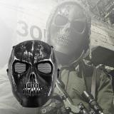 Beli Wajah Penuh Masker Taktis Airsoft Paintball Perlindungan Keselamatan Hitam Tengkorak Kerangka Cicilan