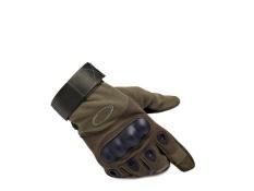 BODO O kolam elang hitam naik semi jari sarung tangan Non-slip QSL ultra-serat mengenakan-tahan kebugaran khusus taktis sarung tangan Sarung tangan (Green)-Intl