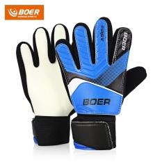BOER Anti-skid Finger-save Child Goalkeeper Gloves for Goalie Beginners(Size:5) - intl
