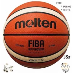 Bola Basket Kulit Gg7 X Free Gas Needle & Jaring/import By J&r.