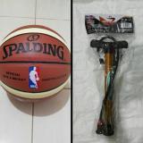 Harga Bola Basket Spalding Nba Kulit Pu Pompa Besi Import Baru