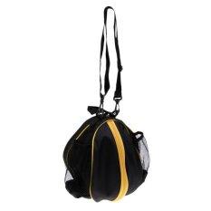Spek Bolehdeals Tahan Air Basket Carry Bag Adjustable Tali Selempang Hitam Kuning Internasional