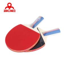 BOLI Tenis Meja Ping Pong Raket Set Dua Jerawat-in Kelelawar Karet Tiga Bola (PENHOLD) (Multicolor)