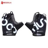 Spesifikasi 2140018 Dipasangkan Pria Wanita Anti Slip Half Finger Sarung Tangan For Bersepeda Olahraga Gym L Hitam Boodun Paling Bagus