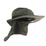 Spesifikasi Boonie Memancing Hiking Outdoor Brim Leher Cover Bucket Sun Flap Hat Bush Cap Terbaru