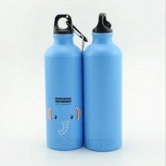 Jual Botol Minum Olahraga Aluminium 500Ml Dengan Karabiner Blue Universal Online