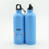 Jual Botol Minum Olahraga Aluminium 500Ml Dengan Karabiner Blue Branded Original