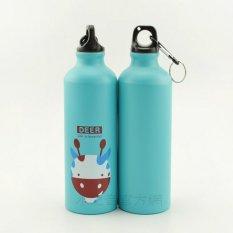 Jual Botol Minum Olahraga Aluminium 500Ml Dengan Karabiner Light Blue Universal Grosir