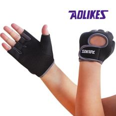 Brand Anti-skid Men & Women Gym Gloves Body Building Exercise Training Sports Fitness Gloves Crossfit(L) - intl