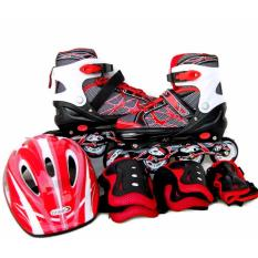Harga Brasel In Line Skate 1 Set Merah Medium Murah