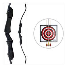 Busur Standar Panahan Pvc Wooden Recurve Bow 165 Cm Archery Diskon 50