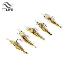 Beli 5 Get 5 Gratis, Fishing Lures dengan Hook Buatan Udang Udang Udang Udang Umpan Ringan Carp Fishing Lure (10 Pcs Fishing Lures) -Intl