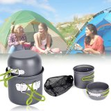 Spesifikasi Camping Pan Pot Cookware Cooking Set Outdoor Backpacking Pots Bowl Hiking Kits Intl Dan Harga