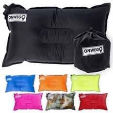 Camping Pillow/Bantal Udara Tiup-20in X 12in, 10.5 Oz, Self Inflating, Compressible-Terbaik untuk Perjalanan Luar Ruangan, Backpacking, Hiking, Pantai, Perjalanan, Sepeda Motor, CAR-Oleh ONWEGO-Intl