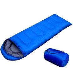 Jual Beli Camping Sleeping Bag Blanket Blue Outdoor Adventure Baru Indonesia