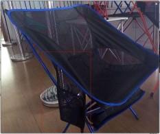 CAMTOA Outdoor Berkaki Tiga Lipat Folding Stool Camping Beach Fishing Chair Garden Seat Kecil Traveling Bodoh Biru Tua- INTL