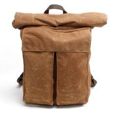 Harga Canvas Backpack Boshiho Outdoor Vintage Waterproof Canvas Rucksack Schoolbag Shoulder Travel Hiking Camping Sch**l Bag Beige Intl Asli Boshiho