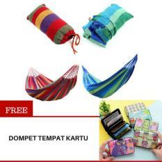 Toko Faimstore Canvas Hammock Hammock Colorful Kasur Gantung Camping Single Series Tempat Tidur Gantung Free Dompet Tempat Kartu Online Indonesia