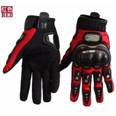 Beli Carbon Fiber Motor Racing Tangan Jari Penuh Perlindungan Pro Biker Gloves Intl Online Tiongkok