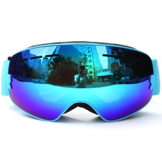 Anak-anak Ski Snowboarding Skating Kacamata Olahraga Perlindungan UV Anti-kabut Lebar Bulat Lensa