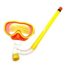 Anak-anak Renang Kacamata Semi Kering Snorkeling Peralatan Kuning-Intl