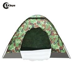 CLEYE Hiking Kamuflase Kemah Suci Kolam Memancing Berburu Camping Tenda untuk 4 Orang-Intl