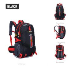 Cocolmax 40l Outdoor Hiking Camping Waterproof Nylon Travel Luggage Rucksack Backpack Bag Black - Intl By Cocolmax.