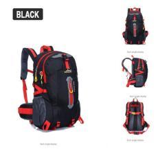 Cocolmax 40l Outdoor Hiking Camping Waterproof Nylon Travel Luggage Rucksack Backpack Bag Black - Intl By Cocolmax.