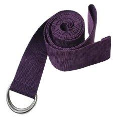 Miliki Segera Cocotina Sabuk Pinggang Latihan Kebugaran Tubuh Kaki The Sports Yoga Peregangan Tali Pengikat Ungu