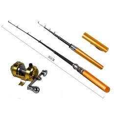 Color FISHING ROD PENA PUPLEN Pancing Joran Mini Portable Fish Pen PulPen Alat Mancing