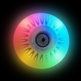 Promo Colorful 80Mm Led Light Sliding Flash Roller Skate Wheel Rainbow Intl Oem Terbaru