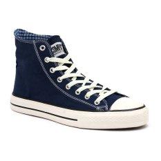 Jual Compass Kg 031 Hi Cut Sneakers Navy Chequer Lengkap