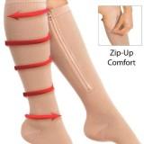 Harga Kompresi Kaki Ritsleting Support Knee High Stocking Mencegah Varises Kaus Kaki Open Zip Up Toe Khaki S Intl Asli Oem