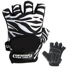 Contraband Merah Muda Label 5277 Wanita Desain Seri Zebra Cetak Lifting Sarung Tangan (Pasang) (Putih/Hitam, besar)-Internasional