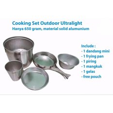 Jual Cooking Set Nesting Langseng Ultralight All In One Masak Nasi Di Gunung Camping Hiking Branded