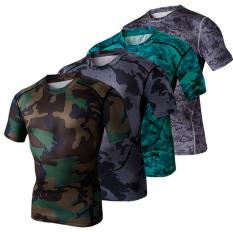 Obral Kamuflase Keren Kompresi Baju Kaus Ketat Berwarna Warni Warna 2015 Internasional Murah
