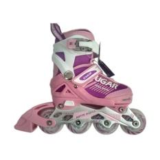 Cougar MZS853 ADJ.Inline Skate Sepatu Roda - Pink Size 30-33