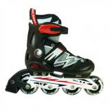 Toko Cougar Sepatu Roda Inline Skate Mzs835L Hitam Silver Online Terpercaya