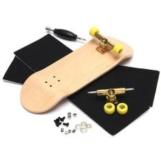 Diskon Kreatif Kayu Fingerboard Jari Skate Board Grit Kotak Foam Tape Kayu Warna Intl