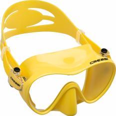 Cressi F1 Kuning Tanpa Bingkai Scuba Menyelam Masker Anti Gores Lensa Tunggal Satu Jendela Rendah Volume Snorkeling Masker Renang Cressi Diskon 30