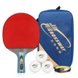 Harga Crossway Brand Berkualitas Tinggi Raket Tenis Meja 4 Bintang Profesional Pelatihan Dan Kompetisi Ping Pong Bat Pen Pegangan Intl Yg Bagus