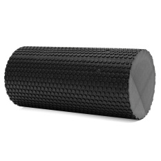 CS High Density Floating Point Foam Yoga Pijat Roller Fitness/Fisio/Gym (Hitam)