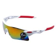 Model Cyber Laki Laki Bersepeda Di Luar Ruangan Tahan Angin Uv401 Kacamata Sport Kacamata Putih Terbaru