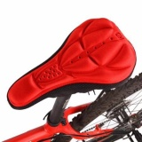 Harga Hemat Bersepeda 3D Silicone Soft Tebal Gel Cushion Cover Bike Bicycle Saddle Seat Pad Merah Intl