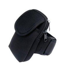 Bersepeda Olahraga Menjalankan Cell Phone Arm Band Bag Pergelangan Tangan Pouch Key Paket Hitam-Intl