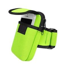 Bersepeda Olahraga Menjalankan Cell Phone Arm Band Bag Pergelangan Tangan Pouch Key Paket Hijau-Intl